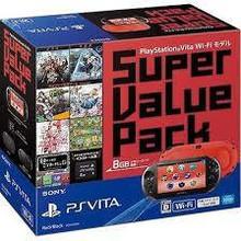 Psv Ps Vita Super Value Pack Wi-fi Model Red/black