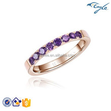316L New Fashion Stainless steel VT Diamond Ring