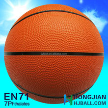 rubber ball basketball 5 inches professional