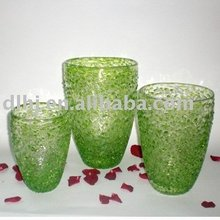 Murano Glass vases in Green