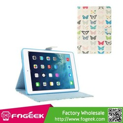 Fast Shipping Pretty Butterflies Durable Folio Stand Smart Leather Skin Case for iPad Air 5