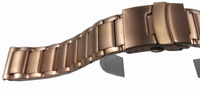 rose gold solid stainless steel mens watch straps-20mm available