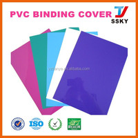 Clear pvc glitter plain color pvc book cover for stationery