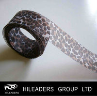 Leopard Print Nylon Organza Ribbon