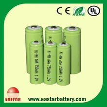 Rechargeable AAA 1.2v 750mAh NIMH Battery For Video