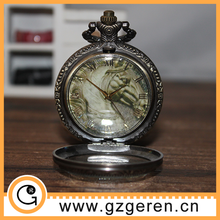Elegant cheap zinc alloy large size bronze pocket watches fashion,pocket watch wholesale