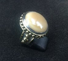 RFMN0056 - Sterling Silver Ring with Santa Fe Glass Gem Marbles