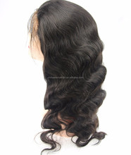 Natural color full lace wig,popular hand made wigs with 20'' body wave