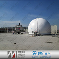 CE & ISO 9000 Certificated Double Membrane Biogas Holder for Biogas Plant In China Projects