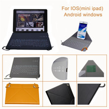 """Wholesale Universal 7inch bluetooth keyboard case cover for 7"""" andriod tablet leather case with keyboard for ipad Air"""