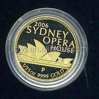 Mirror effect Sydney Opera House souvenir coin