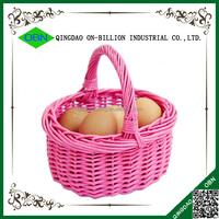 Cheap wholesale miniature mushroom wicker basket