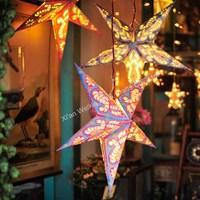 Decorative paper lampshade star