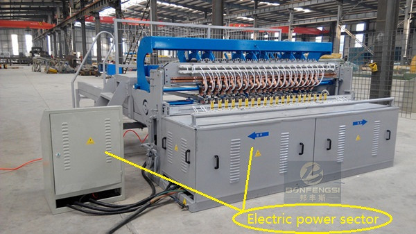 Wire mesh fence welding machine electric power sector and control sector.jpg