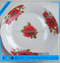 one decal porcelain dinner plate ceramic flat plate