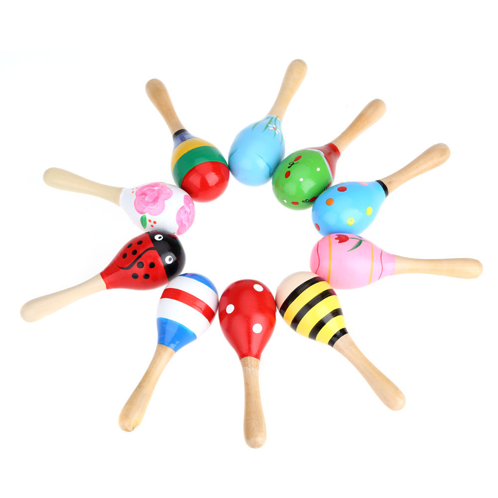 Toy Musical Instruments : High quality musical toy maraca wooden percussion