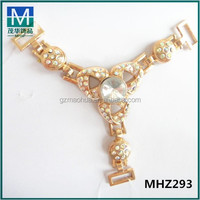 Colorful glass beaded metal clips for shoes or bags. MHZ293