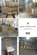 Gold wooden chiavari chair banquet dining chair