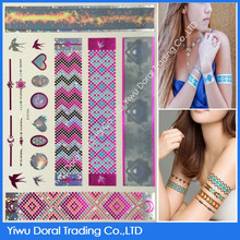 Special Design Body Art for Women Swallow Bracelet and Ring Temporary Tattoo Sticker