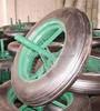 "Qingdao manufacturer heavy duty wheel barrow 14""x4"" solid wheel"