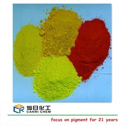 yellow and red iron oxide chemical used in paints/concrete color