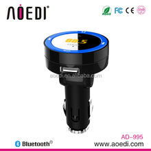 2014 New product bluetooth class 1 transmitter microphone wireless hands free car mp3 usb charger AD-995