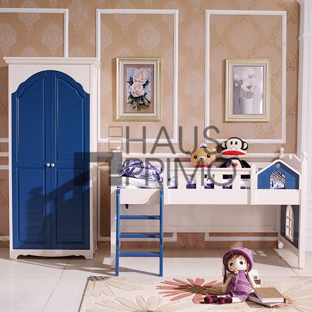 Hongjin Modern Kids Bedroom Furniture Sets Solid Wood Children Beds