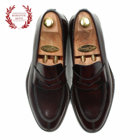 [ROMANTICMOVE] U-tip Loafer (TL Antique Burgundy)_R14M048 High-Quality Hand-made MENS Shoes