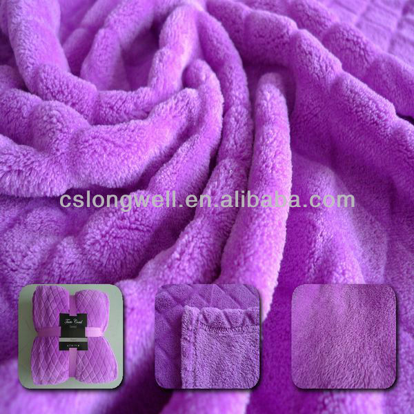 100% Polyester microfiber Thick Plain Dyed Coral Fleece Blanket/throw blanket