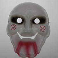 Jigsaw plastic mask horrible cosplay scary mask