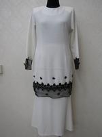 2014 New Design White Islamic Clothing Elegant Muslim Abaya Wholesale