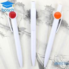 White plastic promotional customized pens no minimum order