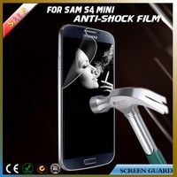 Delicate size fingerprint proof anti explosion phone screen protector for Samsung galaxy S4 mini