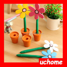 UCHOME Hot New Products For 2015 Flower Shaped Pen FLower Pen With Case