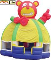 CILE 2015 Kiddie Indoor Playground Pink Bear Inflatable Industries China Bouncy Castle Bed