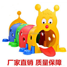 Interesting Plastic Indoor Toy Of Caterpillar Tunnel For Kids And Toddlers