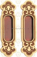 antique and classical sliding brass door handle