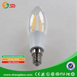 Best selling products modern cristal chandelier light C35 2w 4w e27 e14 led candle bulb light/Sapphire filament bulb