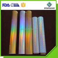 Gold silver multi color transparent hologram PET film for paper lamination