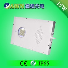 15W high efficiency smart integrated all in one solar led street light fully waterproof sensor Superior figure