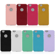 High Quality Cute Candy Color Loving Heart Flower Lace Hard Phone Case For iPhone 6 4.7inch