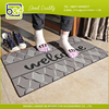 Flocking Grid structure Stylish classic design outdoor areas mat
