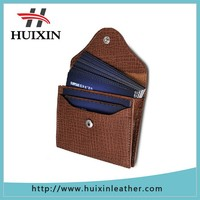 Leather Business Name Card Case Wallet Bag Holder with coin purse