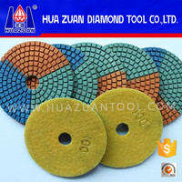 New Arrival Three Colors Diamond Wet Polishing Pads For Marble Granite