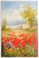 100% Hand painted interior wall decor scenery flower oil painting