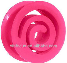 Pink Flexible Silicone Flat Spiral Plug body jewelry