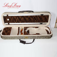 Modern hotsell leather cover violin case
