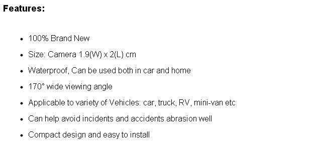 Камера заднего вида Roadmaster Toyota Fortuner