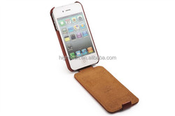 Vertical Smart Luxury PU Flip Leather Cover Hard Case for iphone 4 4S