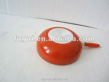 Aluminium non-stick wok with 5 colors with high temperature painting outside